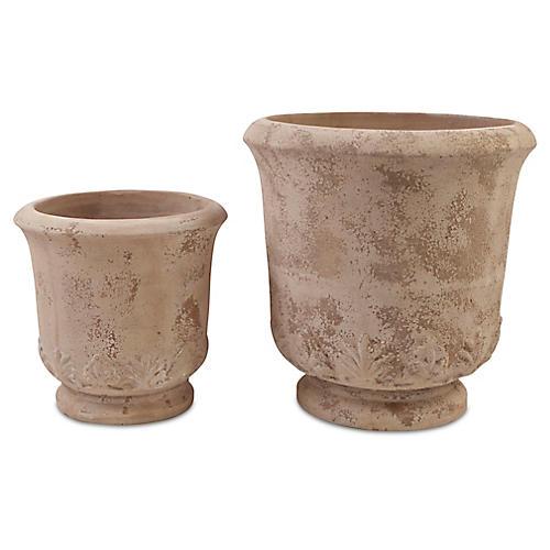 Asst. of 2 Gulf Planters, Antiqued Terracotta