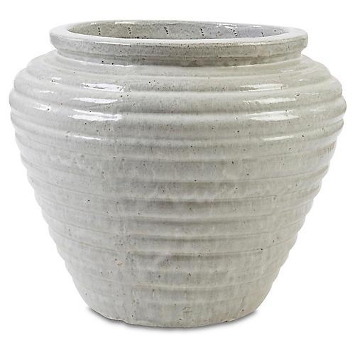 "30"" Boca Jar Planter, Gray"