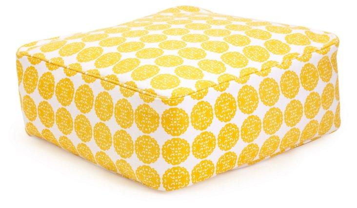 Mason Floor Pouf, Lemon