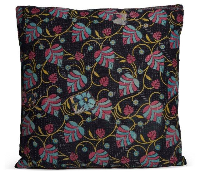 Vintage Fabric Floral Pillow