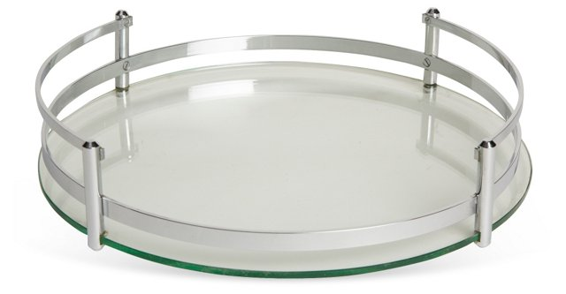 Glass & Stainless Steel Tray