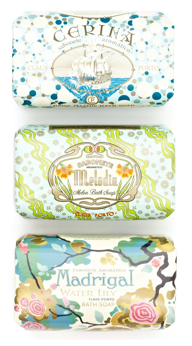 S/3 Gift Wrapped Soaps II