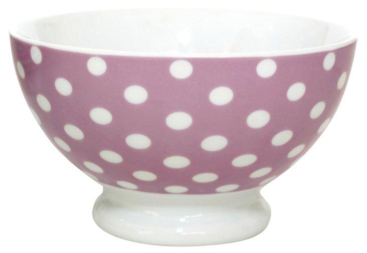 S/6 Falby DK Dot Bowls, Purple