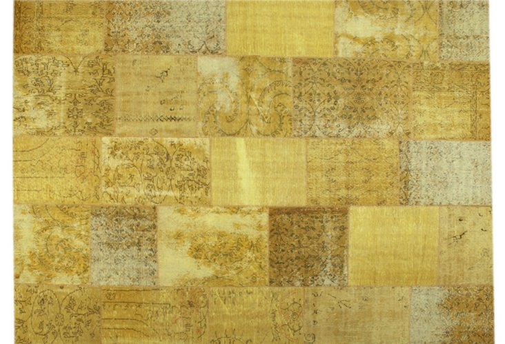 9x12 Patchwork Rug, Champagne