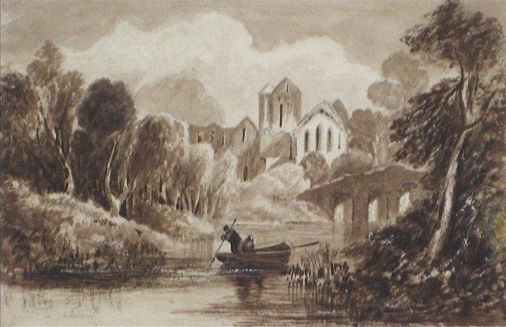 1800s English Lake Scene, James Ramsay