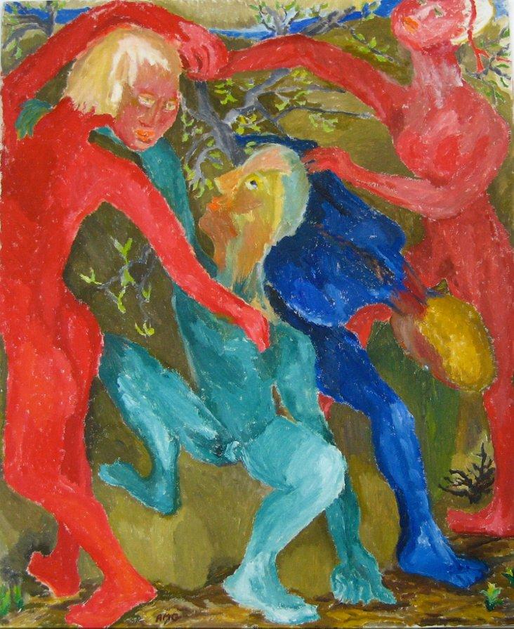 Spring Dance Oil, Anne Granick, 1985