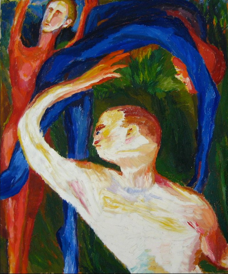 Dance Oil on Canvas, Granick, 1962