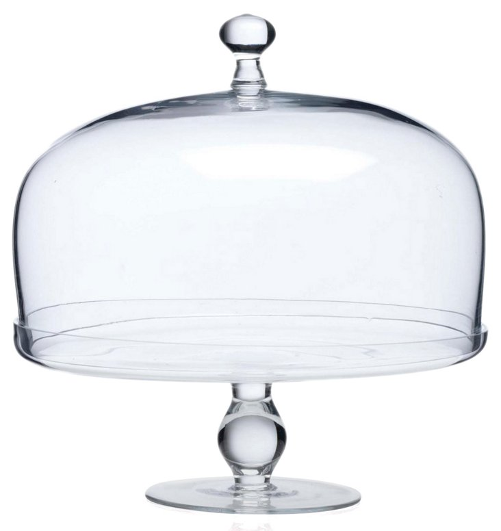 Glass Footed Cake Plate w/ Dome