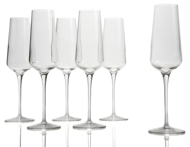 S/6 Champagne Flutes