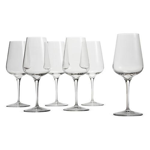 S/6 Pierre Standard White-Wine Glasses