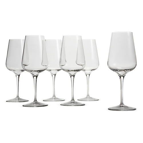 S/6 Pierre Standard White-Wine Glasses