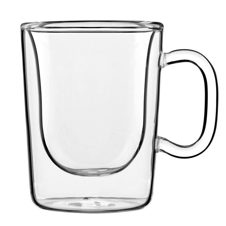 S/2 Double-Wall Mugs