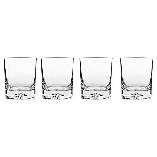 S/4 Rocks Double Old-Fashioned Glasses