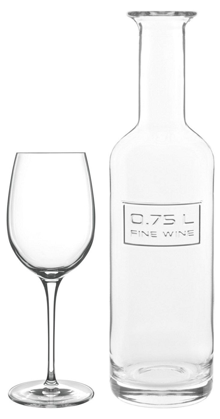 S/6 Wineglasses & Carafe