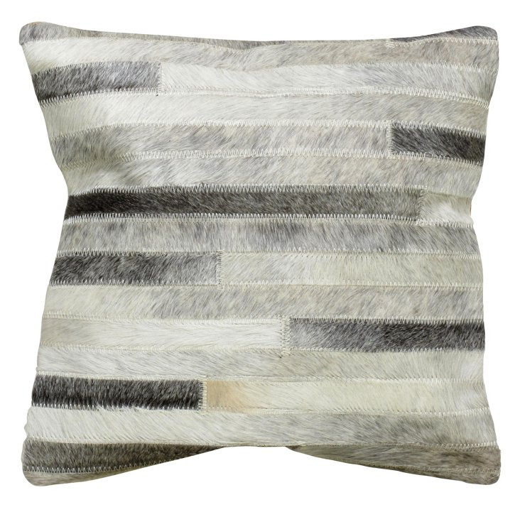 Sable 20x20 Pillow, Gray