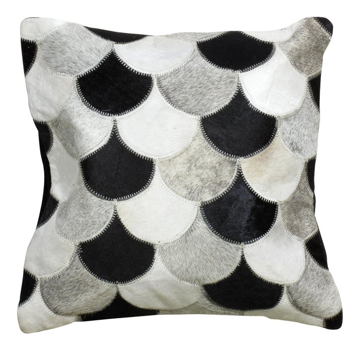 Scales 20x20 Pillow, Black/Multi