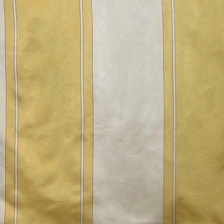 Caribu Stripe Silk Fabric, Gold