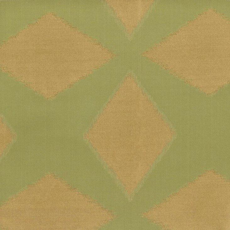 Polygon Cotton/Silk Fabric, Green