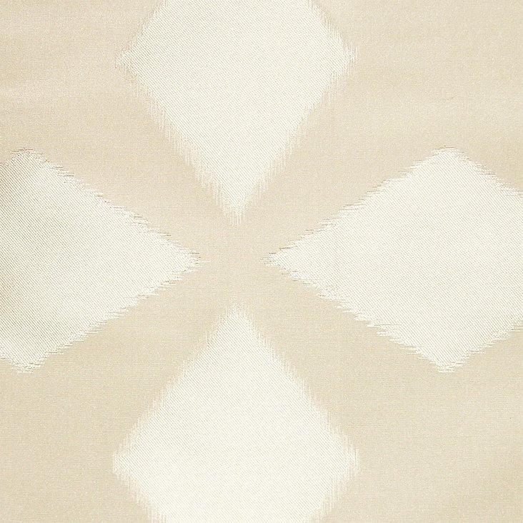 Polygon Cotton/Silk Fabric, Cream