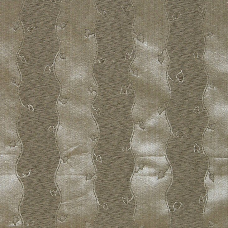 Leaves Stripe Fabric, Beige
