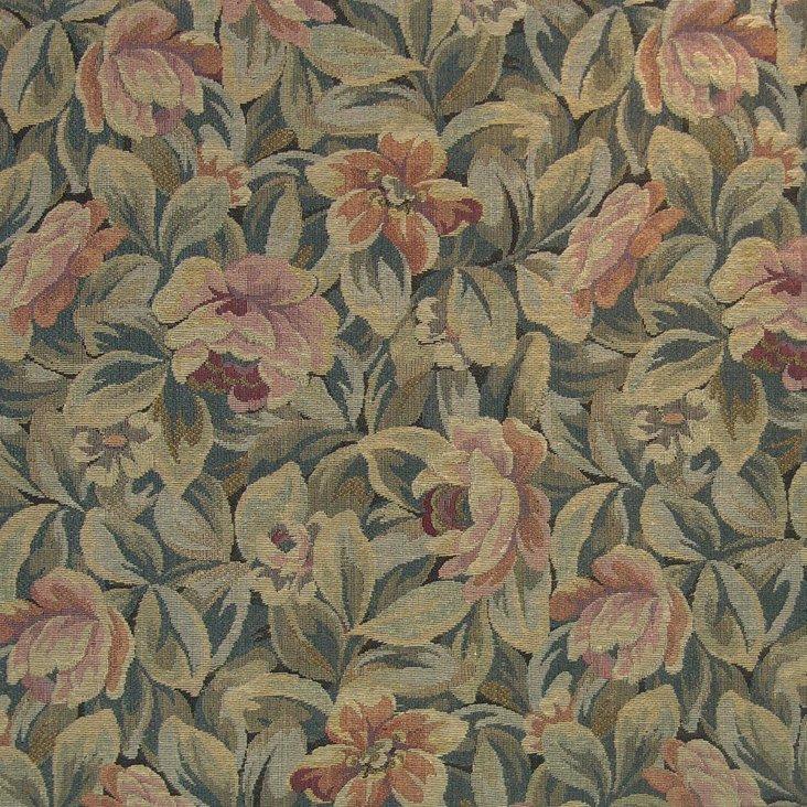 Rousseau Cotton Fabric, Teal