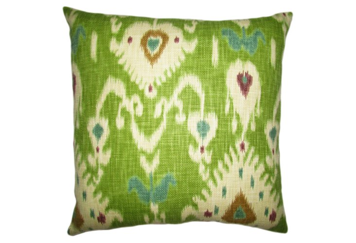 Tilbury Ikat 20x20 Pillow, Green