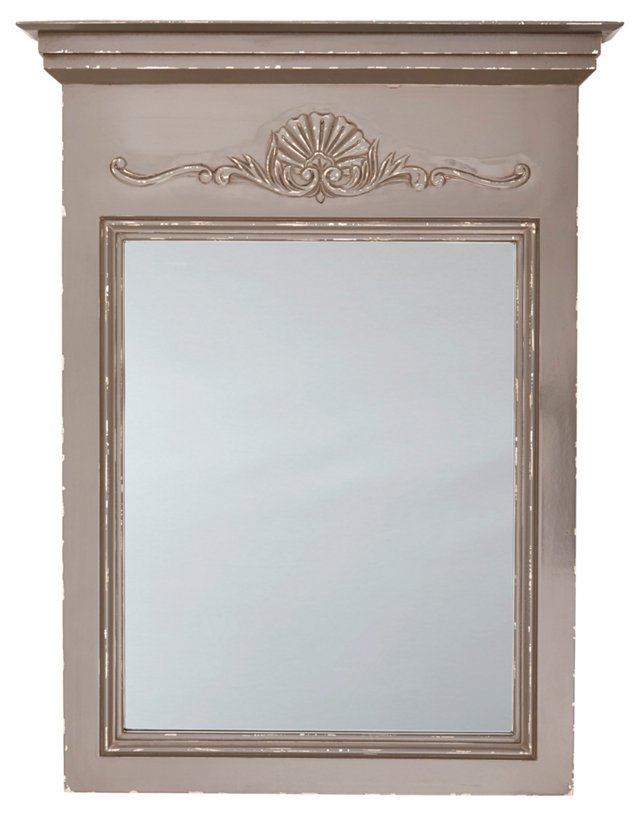 Julienne Wall Mirror, Pearl Gray