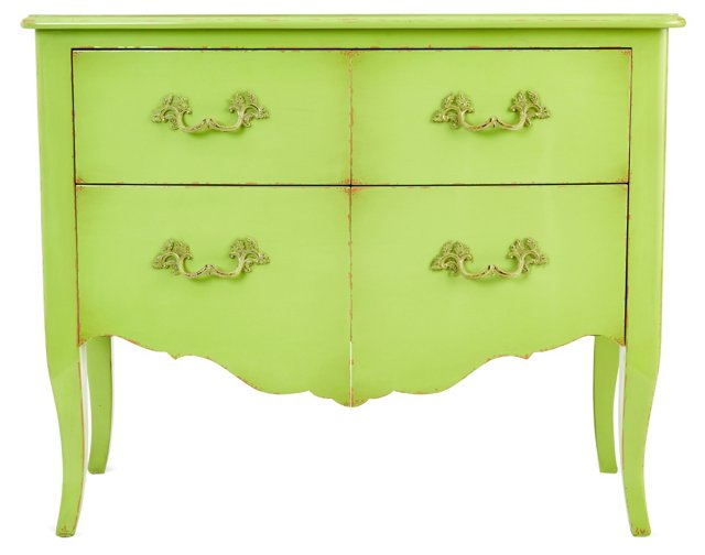 Annie Chest, Distressed Lime Green