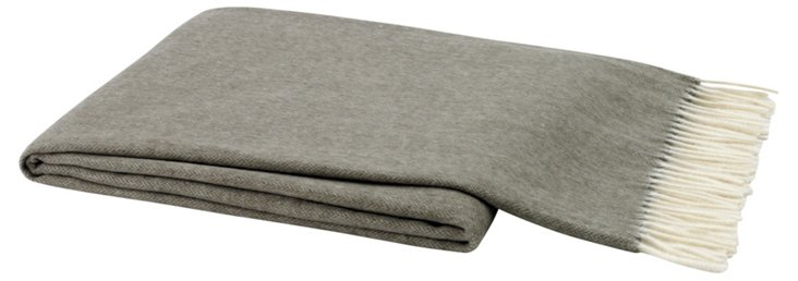 Capri Tweed Throw, Taupe
