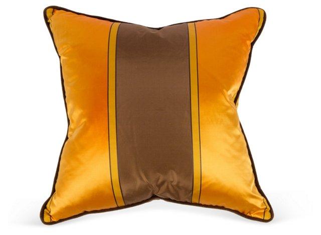 Striped Silk Pillow