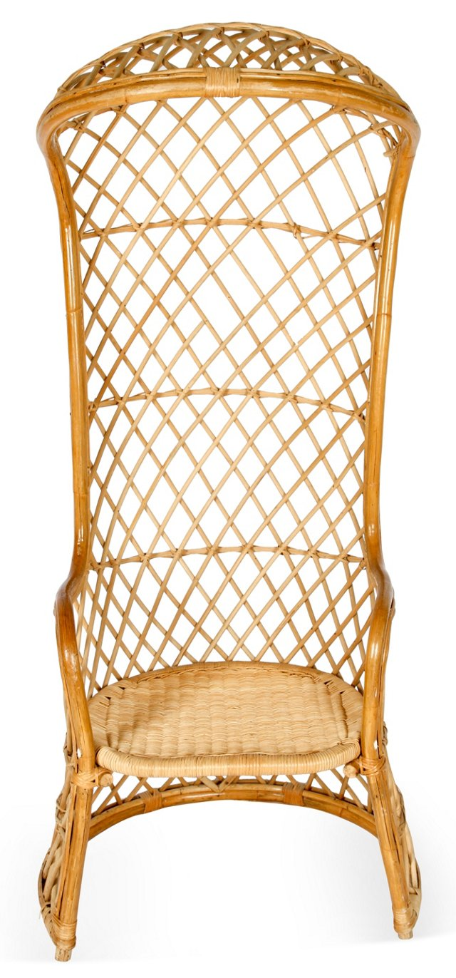 Hooded Wicker Chair