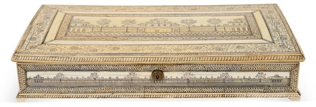 Large 18th-C. Indian Ivory Box