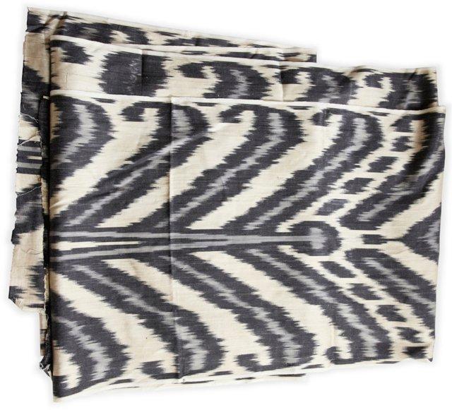 Silk Ikat Fabric, 6.5 Yds.