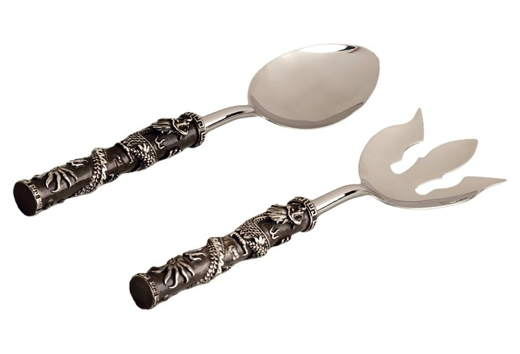 Pair of Platinum-Plated Dragon Servers