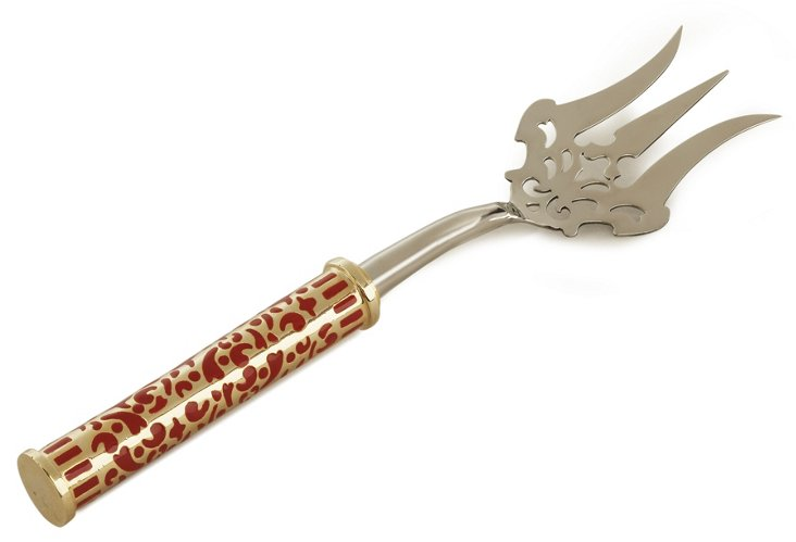 Gold Damask Serving Fork