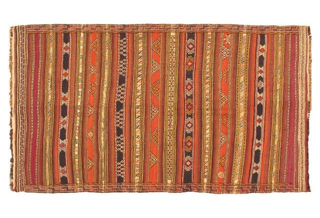"5'x8'10"" Anatolian Kilim Rug, Multi"