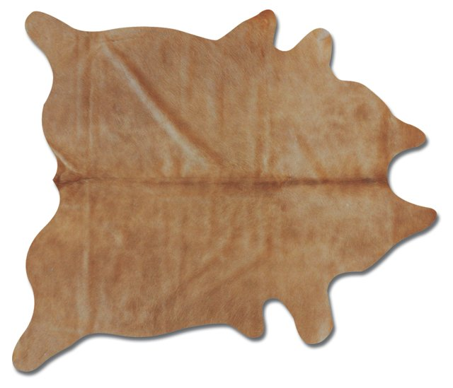6'x7' Daisy Hide Rug, Tan