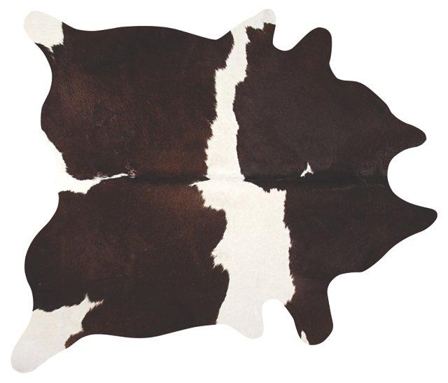 6'x7' Lulu Hide, White/Chocolate