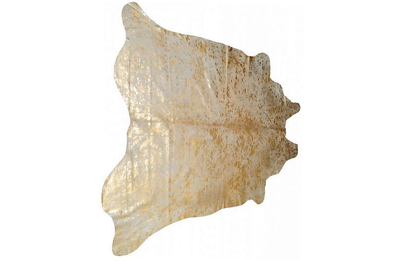 Zephyr Hide, Natural/Gold