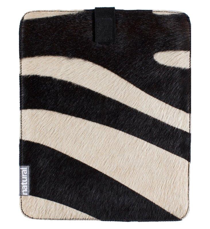 Cowhide iPad Case, Zebra