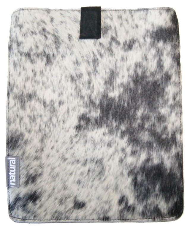 iPad Cowhide Case, Salt & Pepper
