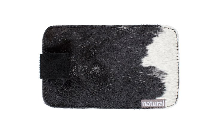 iPhone Cowhide Case, Black/White