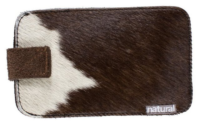 iPhone Cowhide Case, Brown/White