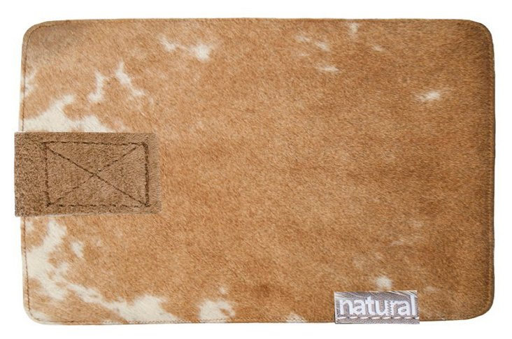 iPhone Cowhide Case, Tan/White