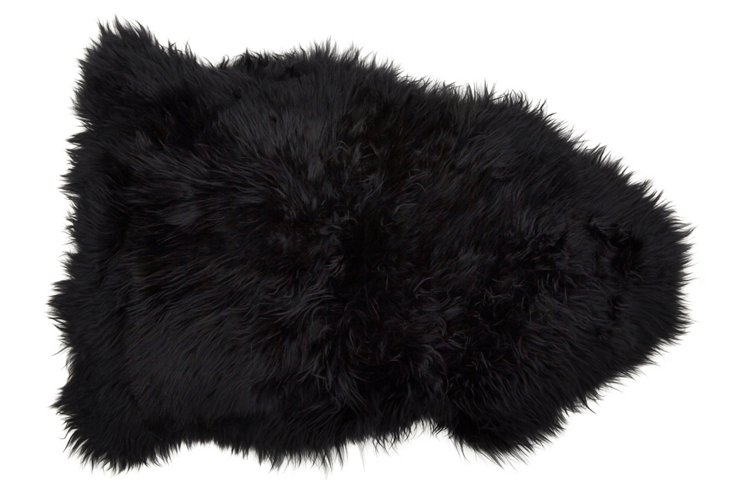 2'x3' Sheepskin, Black