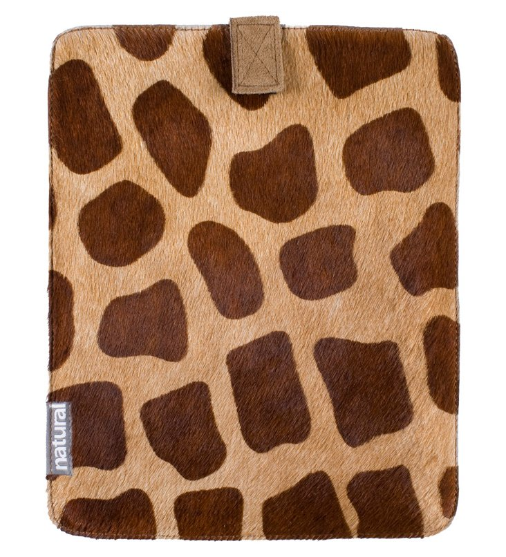 Cowhide iPad Case, Giraffe