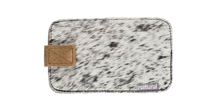 Cowhide iPhone Case, Salt & Pepper