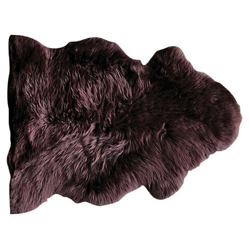 Sheepskin Rug, Chocolate