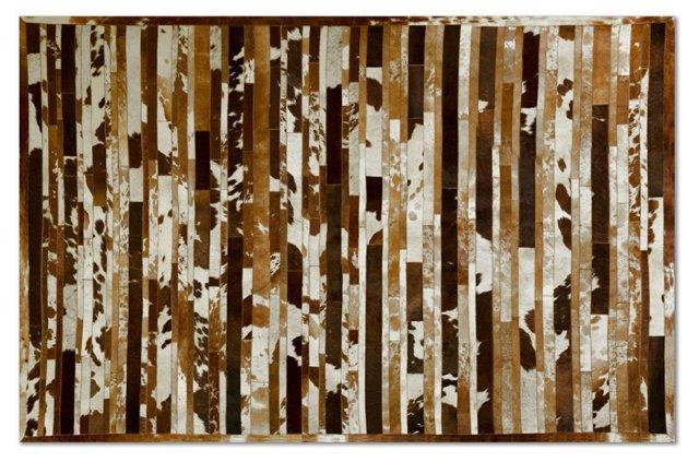 Sunne Hide Rug, Brown/White