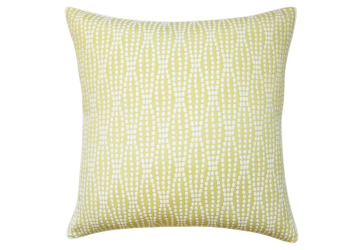 Strands 22x22 Cotton Pillow, Citrus